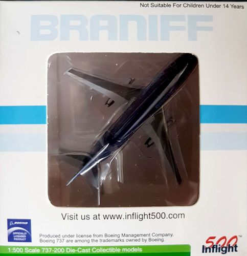 Inflight500 Braniff International B 737-293 1:500 - IF5732007