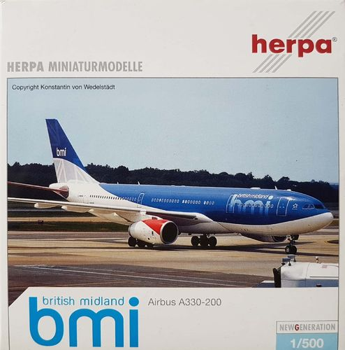 Herpa Wings bmi British Midland A330-243 1:500 - 508490