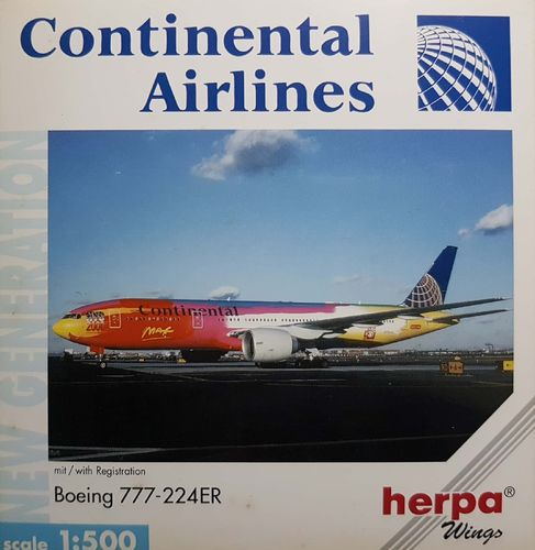 Herpa Wings Continental Airlines B 777-224ER 1:500 - 506533