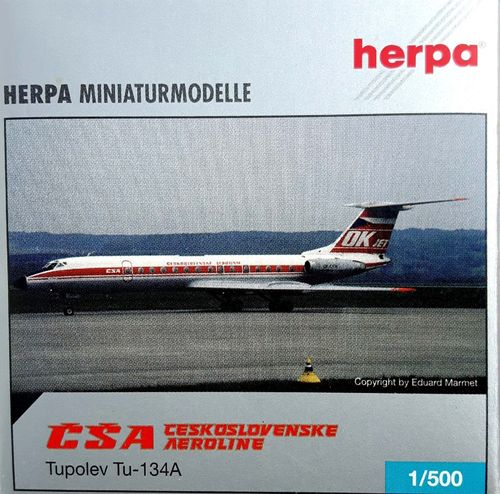 Herpa Wings CSA Czech Airlines TU-134A 1:500 - 514347