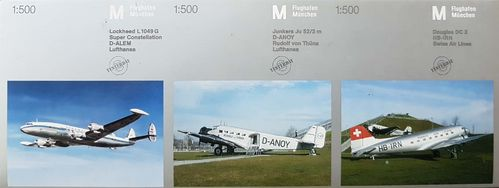 Herpa Wings 3er Set: L-1049 Super Constellation, Ju52 und DC 3 1:500 - 513937