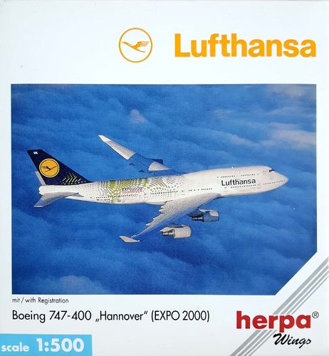 Herpa Wings  Lufthansa B 747-430 1:500 - 512015 EXPO 2000 HANNOVER