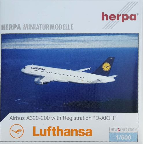 Herpa Wings Lufthansa A320-211 1:500 - 516501 D-AIQH