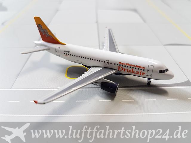 Herpa Wings Druk Air Royal Bhutan Airlines A319 115 1500 515122