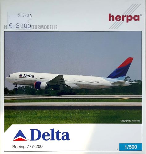 Herpa Wings Delta Air Lines B 777-232ER 1:500 - 512206