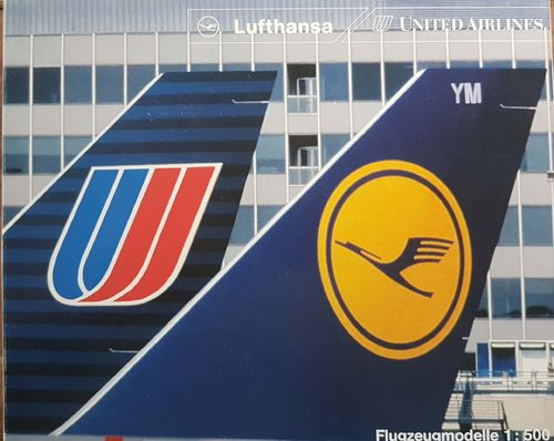 Herpa Wings 4er Set Contemporary Lufthansa und United Airlines