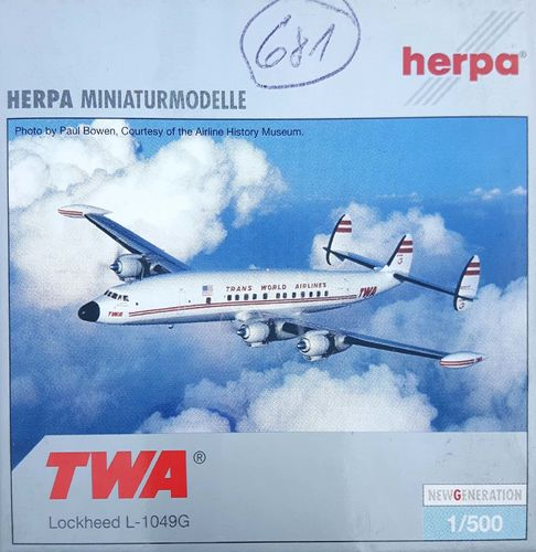 Herpa Wings Trans World Airlines L-1049H/01-06 Super Constellation 1:500 - 510462