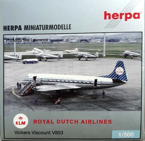 Herpa Wings KLM Royal Dutch Airlines Viscount 803 1:500 - 510646