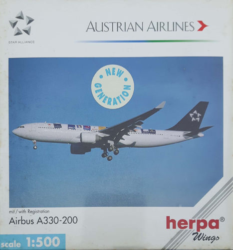 Herpa Wings Austrian Airlines A330-223 1:500 - 508384