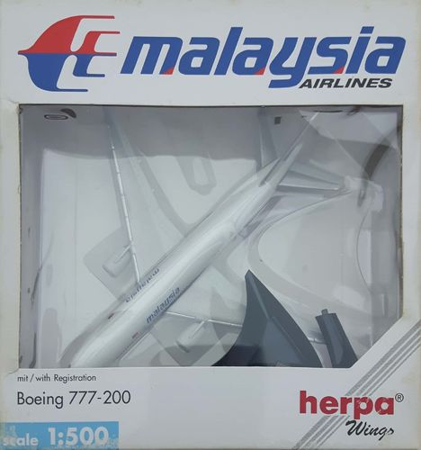 Herpa Wings Malaysia Airlines B 777-2H6ER 1:500 - 506540