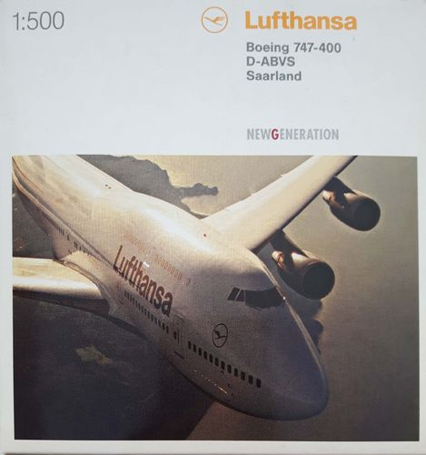 Herpa Wings Lufthansa B 747-430 1:500 - 516105 D-ABVS SAARLAND