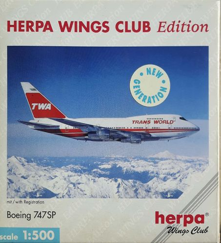 Herpa Wings Trans World Airlines B 747SP-31 1:500 - 512312