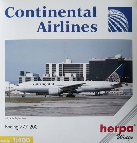 Herpa Wings Continental Airlines B 777-224ER 1:400 - 560429