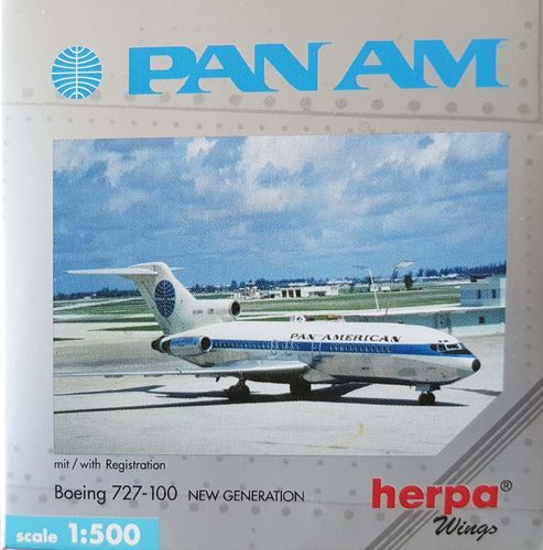 Herpa Wings Pan American World Airways B 727-021 1:500 - 512633