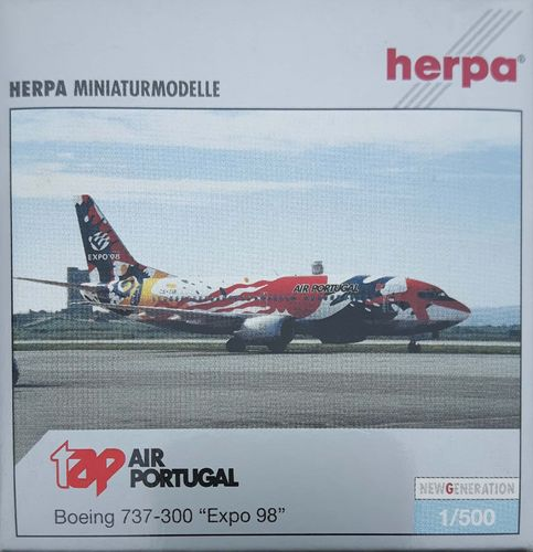 Herpa Wings TAP Air Portugal B 737-382 1:500 - 505802 Expo 98