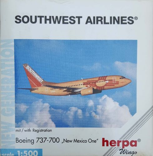 Herpa Wings Southwest Airlines B 737-7H4 1:500 - 512534