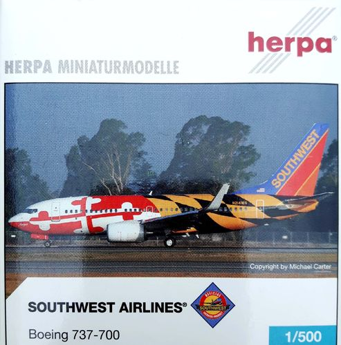 Herpa Wings Southwest Airlines B 737-7H4WL 1:500 - 505666