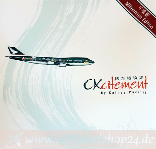 Herpa Wings Cathay Pacific B 747-400 Millennium B-HOX CXcitement 1:500 NG