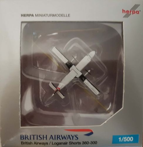 Herpa Wings British Airways 360-300 1:500 - 505215 SHORTS