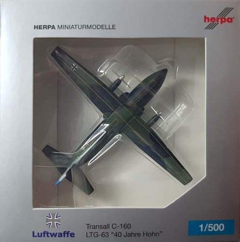 "Herpa Wings Luftwaffe C-160 1:500 - 515757 - ""40 years Flugplatz Hohn"" - 51+02"