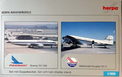 Herpa Wings SET Piedmont Airlines B 767-201ER & Douglas C-47A-DL1:500 - 514866