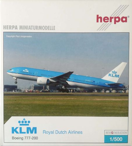 Herpa Wings KLM Royal Dutch Airlines B 777-206ER 1:500 - 506670