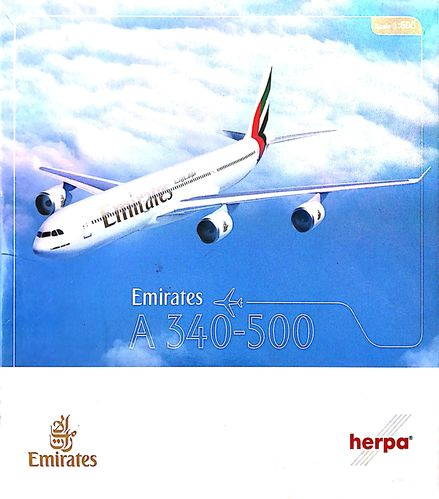 Herpa Wings Emirates A340-541 1:500 - 507387 A6-ERA