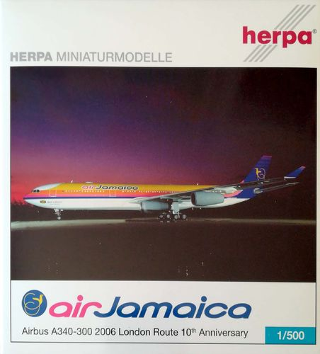 Herpa Wings Air Jamaica A340-313X LONDON ROUTE 1:500 - 507110