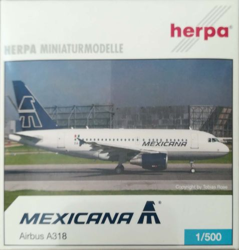 Herpa Wings Mexicana A318-111 1:500 - 509138