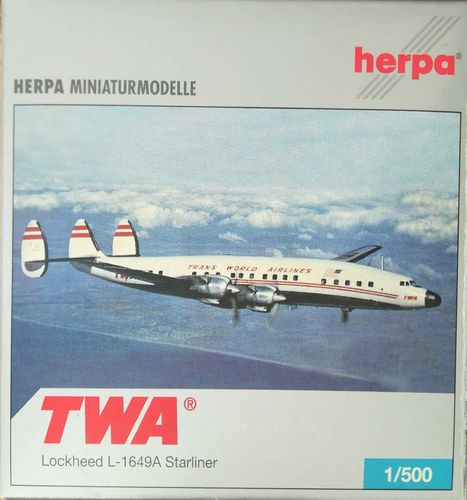 Herpa Wings Trans World Airlines L-1649A-98-09 Starliner 1:500 - 514224