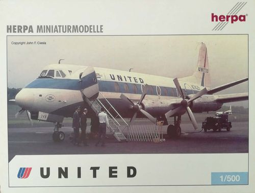 Herpa Wings 2er SET United Airlines Viscount 700 & Boeing 747-422 1:500 - 510721