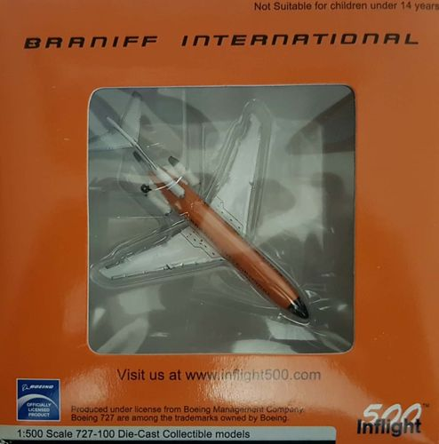 Inflight500 Braniff International B 727-027C 1:500 - IF5721003