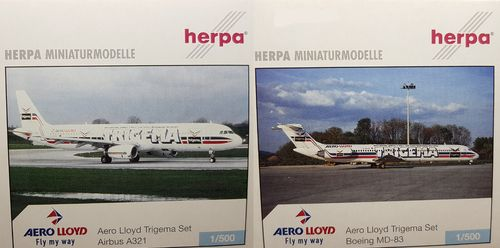 Herpa Wings SET Aero Lloyd A321-231 & MD-83 - 1:500 - 510639