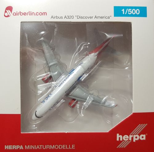 "Herpa Wings Air Berlin A320-214 1:500 ""Discover America"" D-ABNB - 527552"