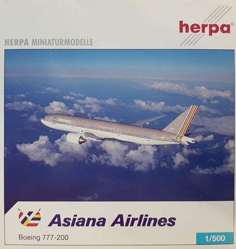 Herpa Wings Asiana Airlines B 777-28EER 1:500 - 506731