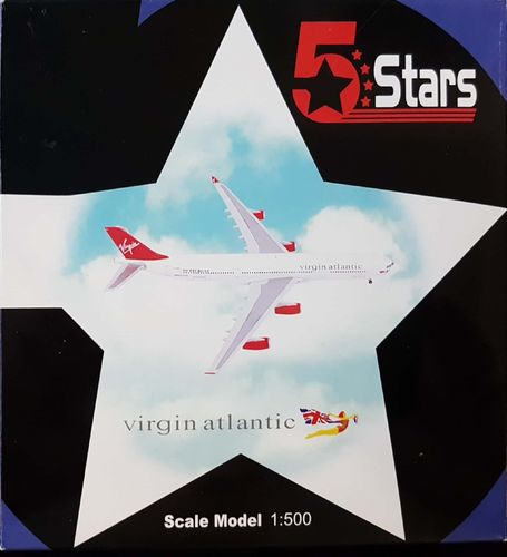5 Stars Virgin Atlantic Airways A340-311 1:500 - FSVC113A