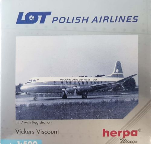 Herpa Wings LOT Polish Airlines Viscount 814 1:500 - 512008