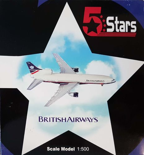 5 Stars British Airways L-1011-100 1:500 - FSBA105B