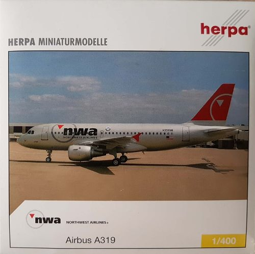 Herpa Wings Northwest Airlines A319-114 1:400 - 561136