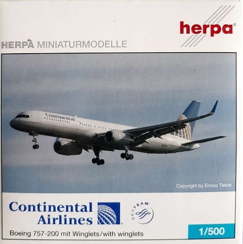 Herpa Wings Continental Airlines B 757-224ETWL 1:500 - 510271