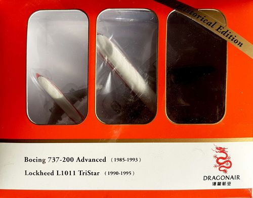 Herpa Wings Box 2er Dragonair L-1011 1:500 & Dragonair B 737-2L9A by LYSIA