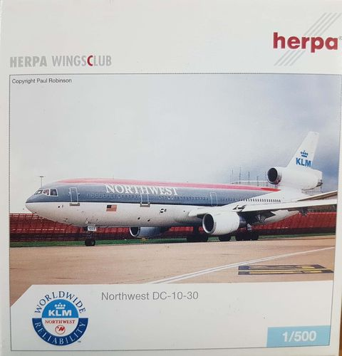 Herpa Wings Northwest Airlines DC-10-30 1:500 - 513098