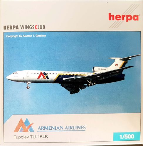 Herpa Wings Armenian Airlines TU-154B2 1:500 - 514385