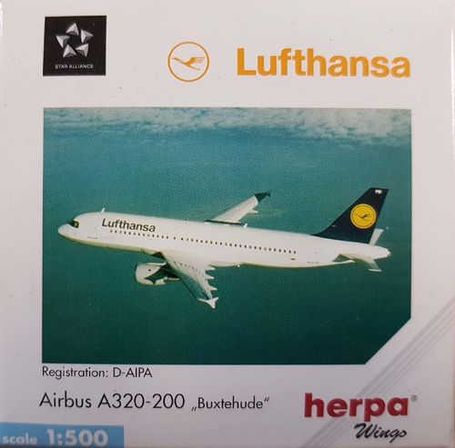 "Herpa Wings Lufthansa A320-211 1:500 - 516501 ""Buxtehude"""