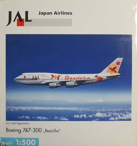 "Herpa Wings JAL Japan Airlines B 747-346 1:500 - 503969 ""Reso´cha Orange"""