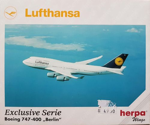 "Herpa Wings ""BERLIN""  Lufthansa B 747-430 1:500 - 516112"