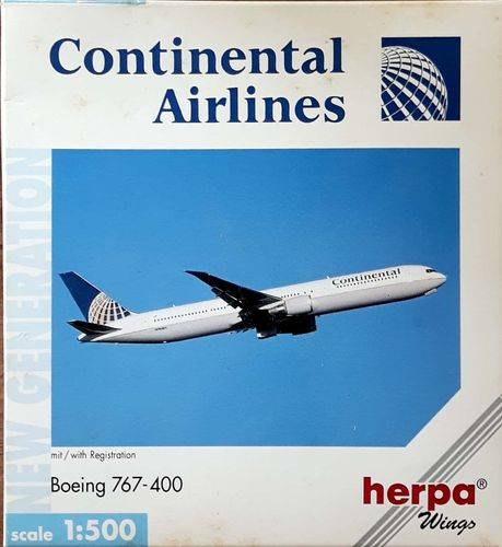 Herpa Wings Continental Airlines B 767-424ER 1:500 - 512381