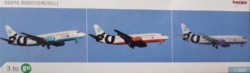 Herpa Wings 3er Set - Go Fly B 737-36Q 1:500 - 505499
