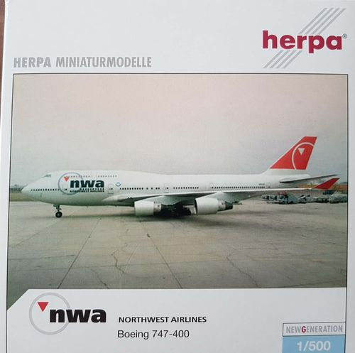 Herpa Wings Northwest Airlines B 747-451 1:500 - 510936