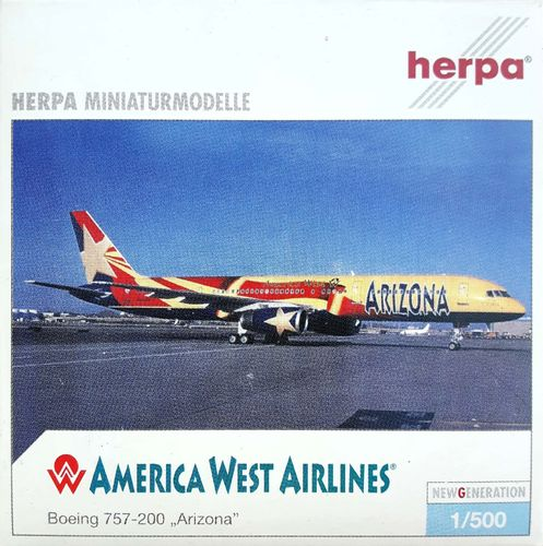 Herpa Wings America West Airlines B 757-2S7 1:500 - 513289